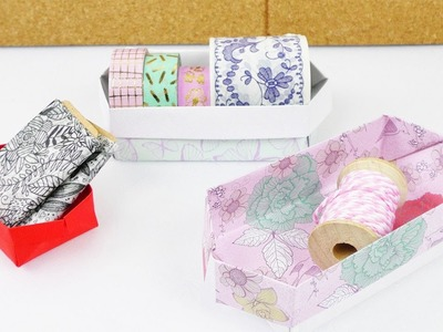 Aufbewahrungs Kiste falten | einfache Origami Anleitung für Kinder | Basteln mit Kindern