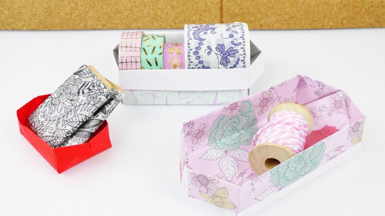 aufbewahrungs kiste falten einfache origami anleitung f r kinder basteln mit kindern. Black Bedroom Furniture Sets. Home Design Ideas