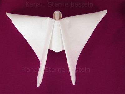 Engel basteln mit Papier-Servietten. Basteln Weihnachten: Weihnachtsengel Weihnachtsdeko: Origami