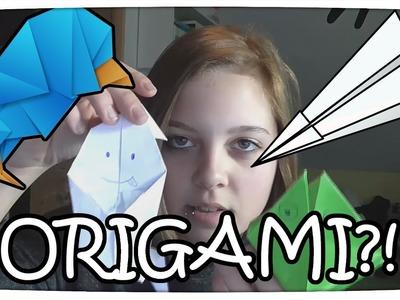 ORIGAMI!! :D - Papierflieger Test + FALTEN MACHT SPAß xD | Flashmine