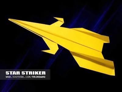 Papierflieger selbst basteln. Papierflugzeug falten - Beste Origami Flugzeug | Star Striker