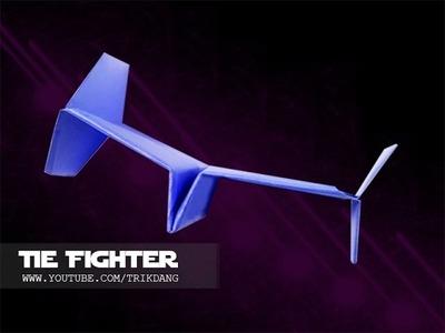 Papierflieger selbst basteln. Papierflugzeug falten - Beste Origami Flugzeug | Tie Fighter
