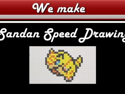 Pixel Art Pokemon Sandan Drawing