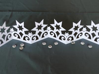 Sterne. stars basteln, filigranes Ornamentband aus Papier