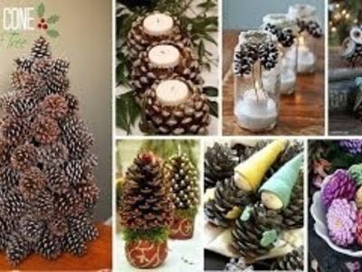 Weihnachtsdeko Selber Machen Naturmaterialien - Tannenzapfen Deko basteln und das Haus sti