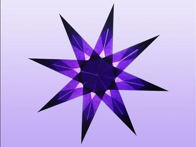 8 Zackiger violetter Stern zum selber basteln