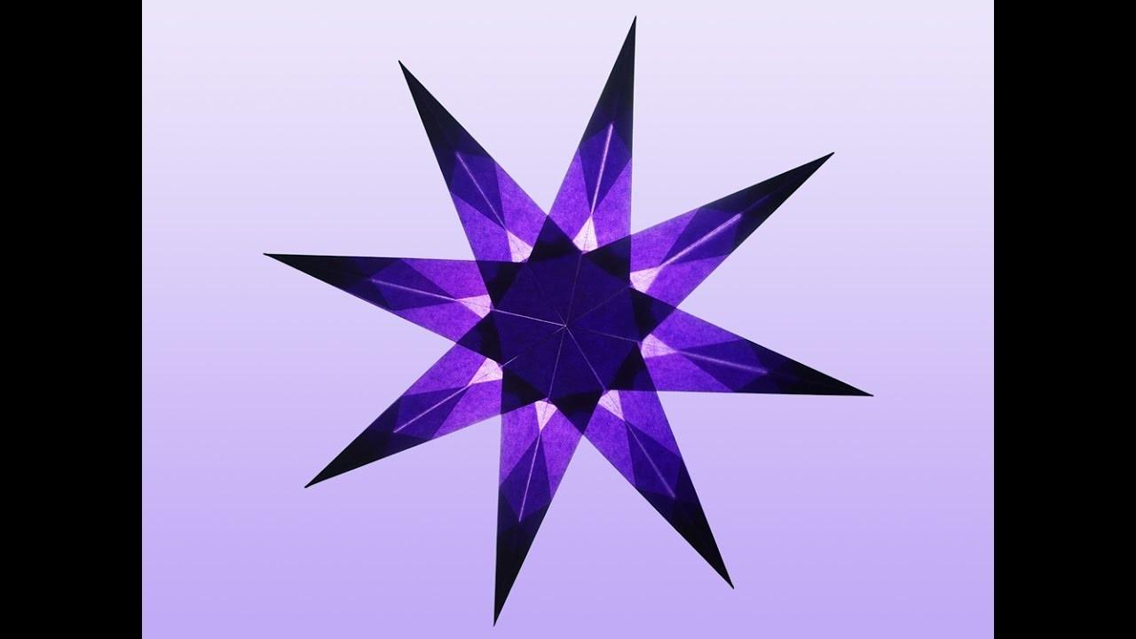 8 zackiger violetter stern zum selber basteln. Black Bedroom Furniture Sets. Home Design Ideas