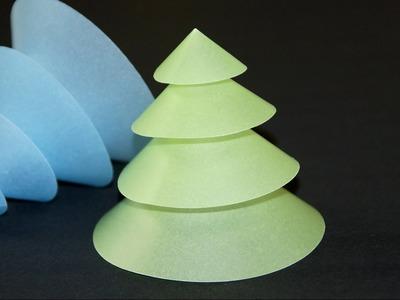 Basteln zu Weihnachten: Tannenbaum falten