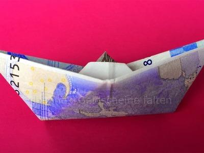 Geldschein falten Schiff - Einfach Geld falten zum Geldgeschenke basteln - Origami Boot