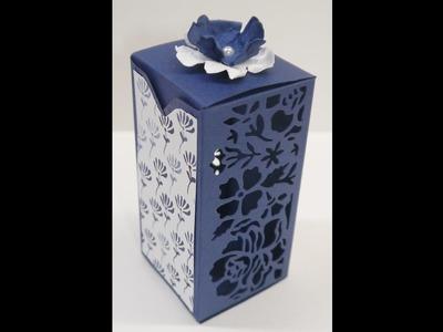 Geschenkverpackung basteln mit Thinlits Florale Fantasien