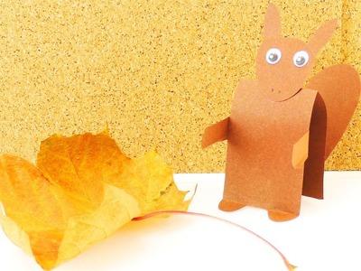 HERBST Deko selber machen | Süßes Eichhörnchen basteln mit Kindern | Bastelanleitung für Kids