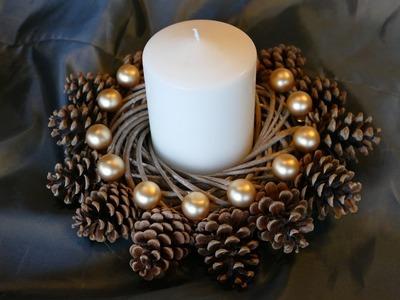Kranz basteln aus Naturmaterialien für die Weihnachtszeit – einfach!