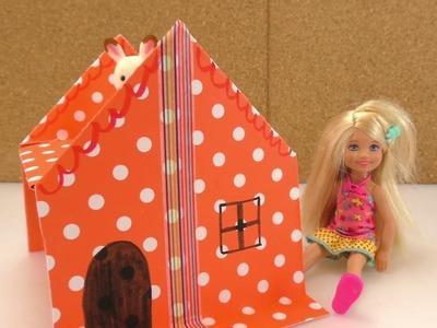 Puppenhaus selber basteln für kleine Barbie oder Sylvanian family | Basteln mit Kindern