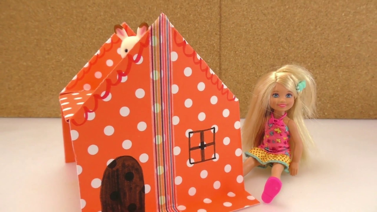 puppenhaus selber basteln f r kleine barbie oder sylvanian. Black Bedroom Furniture Sets. Home Design Ideas
