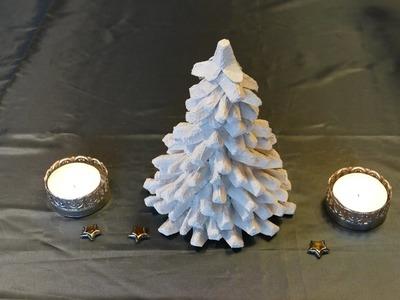 Tannenbaum. christmas tree basteln aus Eierschachteln