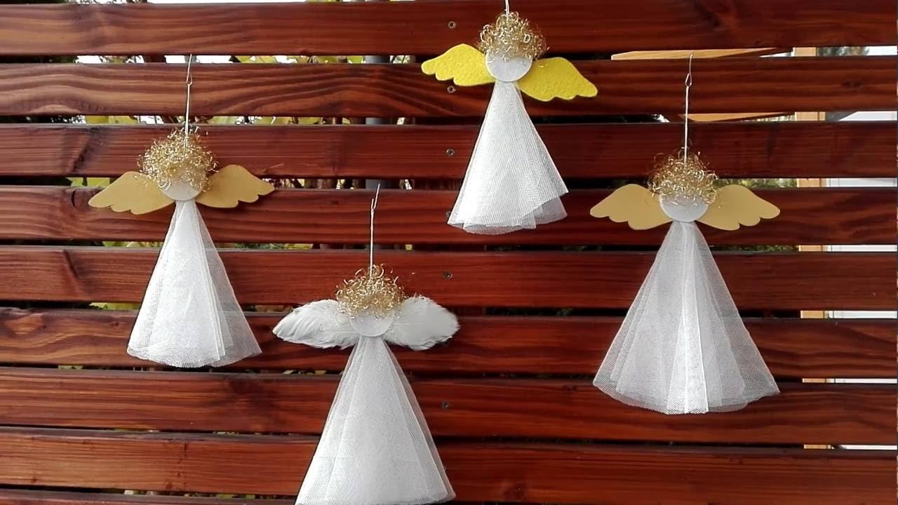 weihnachtsengel basteln aus gardine engelshaaren papier. Black Bedroom Furniture Sets. Home Design Ideas