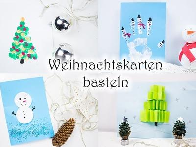 Basteln mit Kindern: 5 Ideen für Weihnachtskarten | MamaKreativ