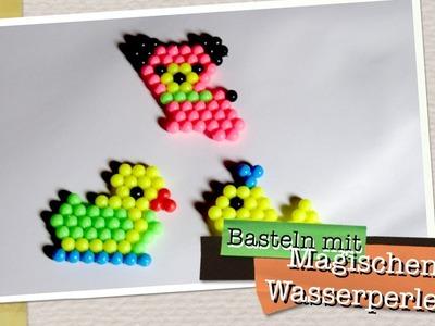 Basteln mit Magischen Wasserperlen ähnlich wie Bindeez - Zaubereffekt für Kinder