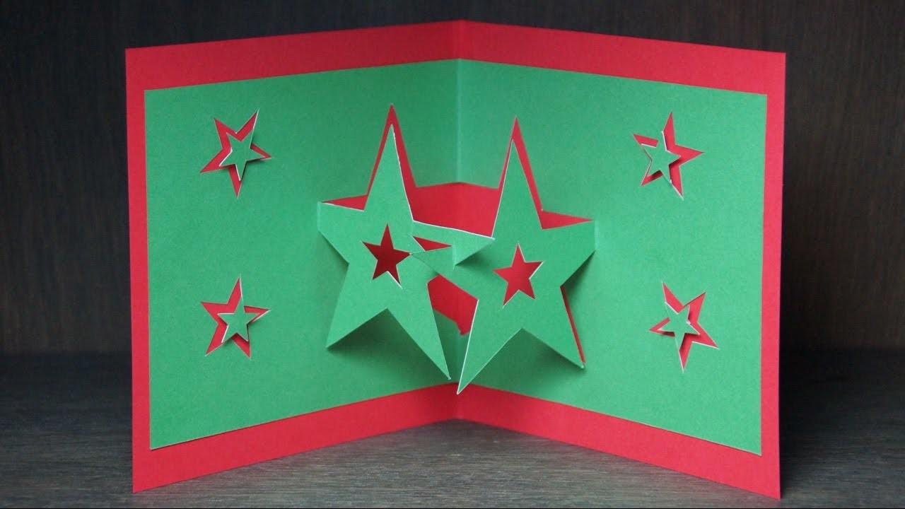 basteln zu weihnachten pop up karten selber basteln pop up sterne karte. Black Bedroom Furniture Sets. Home Design Ideas