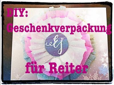 DIY Geschenkverpackung für Reiter (Turnierschleife basteln)