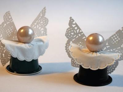 Engel aus Kaffeekapseln basteln