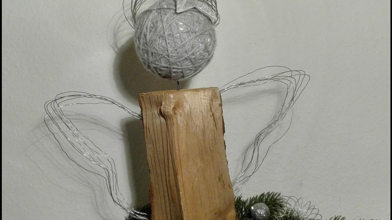 Engel basteln aus kaminholz und gartendraht holzengel das originalvideo - Engel basteln aus naturmaterialien ...