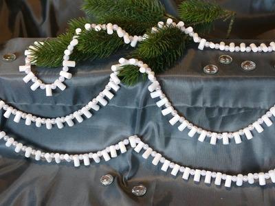 Girlande basteln für die Weihnachts- und Winterzeit – super einfach