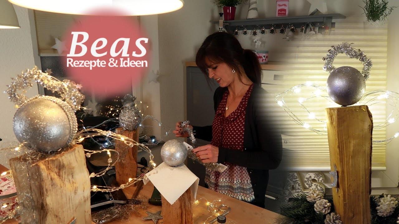 holzengel basteln diy fensterdeko mit engel aus holzscheit weihnachten. Black Bedroom Furniture Sets. Home Design Ideas