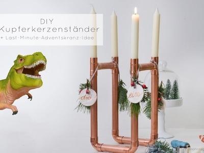 Kupfer Kerzenständer selbst basteln | Anleitung Schritt für Schritt  | Mohntage