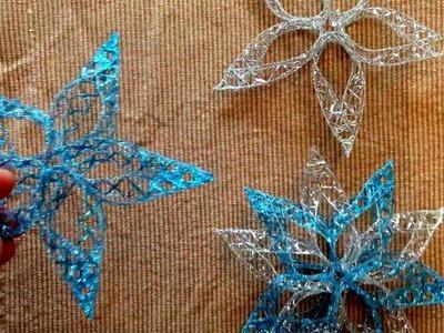 Mit dem Band SHINE  und GOLDENFIX Textilkleber Weihnachtsschmuck , Stern basteln.