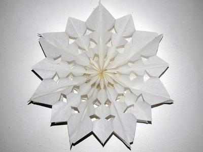 Stern basteln aus Papier-Butterbrottüten