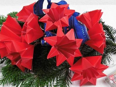 Sterne für eine LED Lichterkette basteln ❁ Deko Ideen mit Flora-Shop