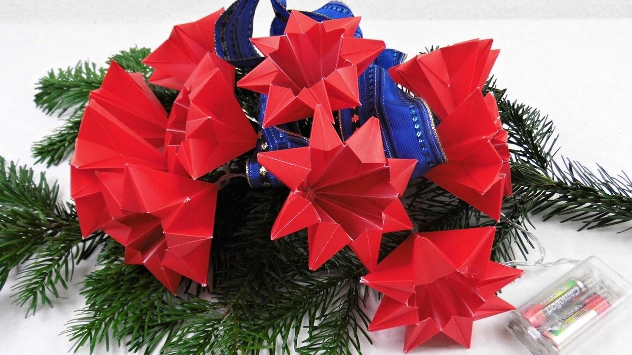 Sterne Fur Eine Led Lichterkette Basteln Deko Ideen Mit Flora Shop