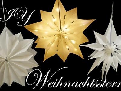 Weihnachtssterne aus Brottüten | Leuchtsterne | Papiersterne basteln