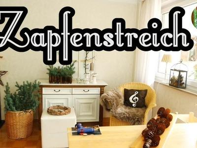 Zapfenstreich        DIY . Adventsdeko. mit Zapfen basteln