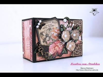 Craft-Update: Minialbum aus Klopapierrollen im Vintagedesign