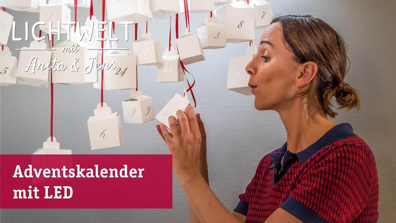 DIY Adventskalender – Step by Step zum beleuchteten Kalender