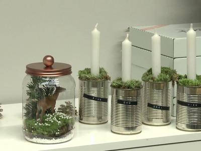 DIY: Adventskranz aus Blechdosen selber machen