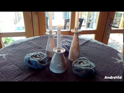 DIY Beton Kreativ Kerzenständer