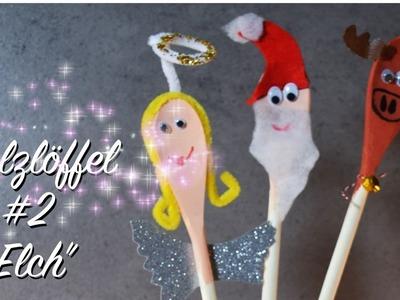 """Holzlöffel #2 """"Elch"""" - Deko - Basteln mit Kindern - Advent Weihnachtszeit"""