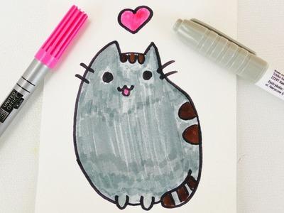 KAWAII Pusheen FACEBOOK CAT DIY | niedliche pummel Katze mit Herz für Geburtage und Einladungen