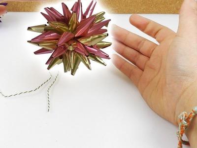 Kugel Sterne Basteln | Super Weihnachtssterne als Baumschmuck selber machen | einfache Anleitung