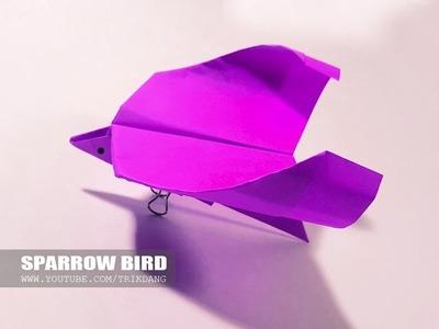 Papierflieger selbst basteln. Papierflugzeug falten - Beste Origami Flugzeug | Sparrow
