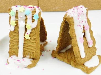Spekulatius Häuschen basteln | Für die Weihnachtszeit | lustige Idee für Kinder in der Adventszeit