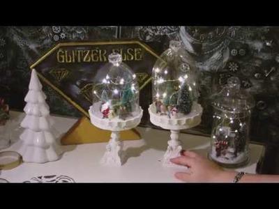 DIY - Plasteflaschen upcycling Glocke winterlich. weihnachtlich dekoriert
