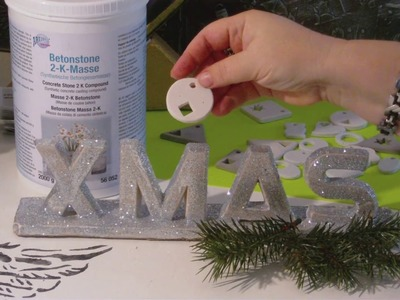 DIY - Schriftzug XMAS aus Beton. Beton Buchstaben