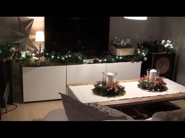 DIY - Weihnachtliche Tischdekoration mit Adventskranz