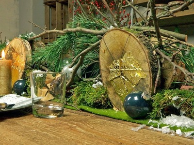 DIY | Weihnachtliche Tischdeko | Blume 2000
