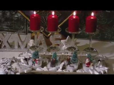 DIY - Winterglas. Weihnachtsglas - Weingläser winterlich dekoriert
