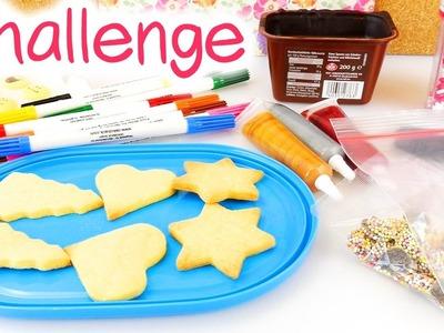 Plätzchen Challenge | Kathis Kekse mit Schokolade und Zuckerstreuseln | DIY Deko für Gebäck